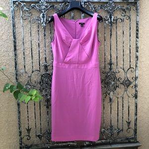 [ann taylor] silk pink purple sheath career dress